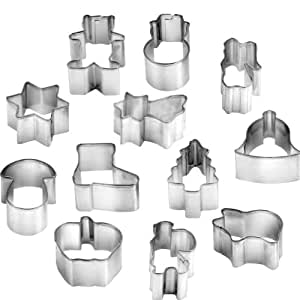 Christmas cookie cutters DELÍCIA, 12 pcs