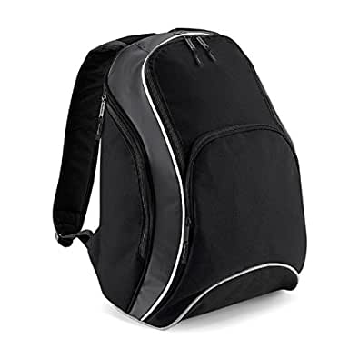 Bagbase Teamwear Backpack in Black / graphite / white