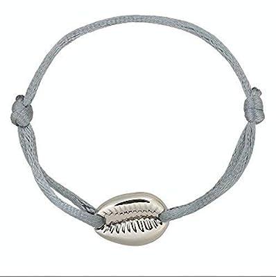 Bracelet Coquillage Cauris Doré ou Argenté sur Cordon
