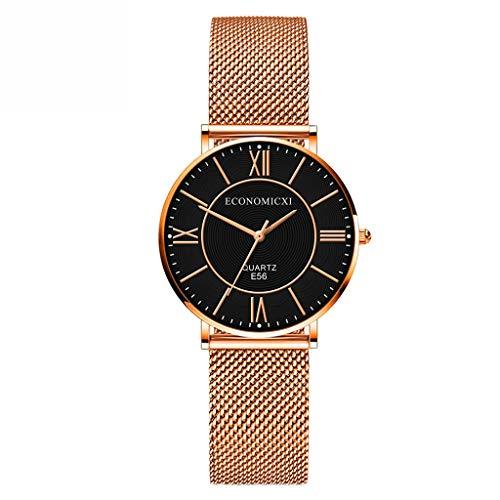 Uhren Damen Edelstahl Sportuhr Digital Uhren Quarz Schüler Retro Armbanduhr Handgelenk analoge Uhr Luminous Uhren Uhrenarmband Watch ABsoar