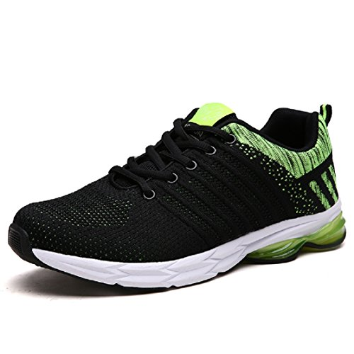 purchase cheap c56ce 2b34f Zapatillas Running para Hombre Aire Libre y Deporte Transpirables Casual  Zapatos Gimnasio Correr Sneakers Verde 40