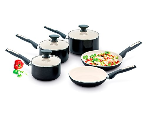 GreenPan 5 Piece Coated Aluminium Sofia Induction Ceramic Non Stick Set