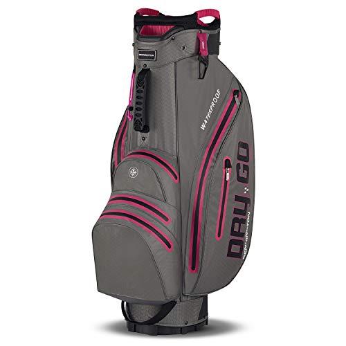 Bennington Dry GO Golf Cartbag 100% Wasserdicht (Canon Grey/Pink)