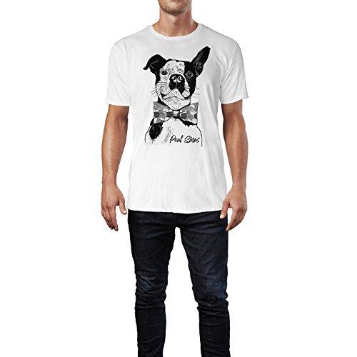 SIN-US 74 Herren T Shirt Französische Bulldogge mit Schleife ( SchwarzWeiss  ) FREIZEIT   c5b094edcc