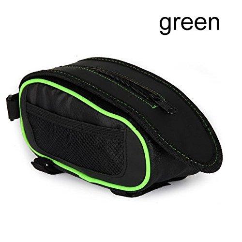 Fahrrad-Reparatur-Werkzeug-Tasche Fahrrad-Sattel-Beutel-Schlauch-Paket schwarz grôn