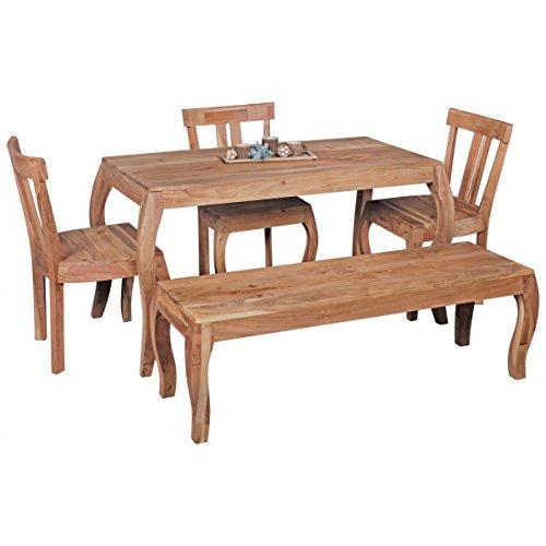 Esszimmertisch Massivholz Akazie Esstisch 140 x 70 cm Küchentisch Landhaus Holztisch Naturprodukt Esszimmermöbel