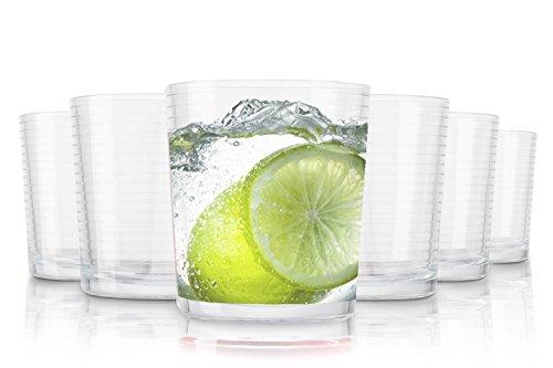 Pasabahce Andorra Wassergläser/Spülmaschinenfest/6-teiliges Set/390 ml/Alle Glaeser sind aus einem Stück geblasen und haben den beruhtem polierten Mundrand.