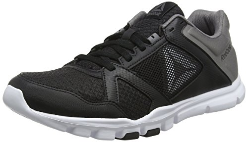Reebok Herren Yourflex Train 10 MT Fitnessschuhe, Mehrfarbig (Black/Shark / White 000), 41 EU