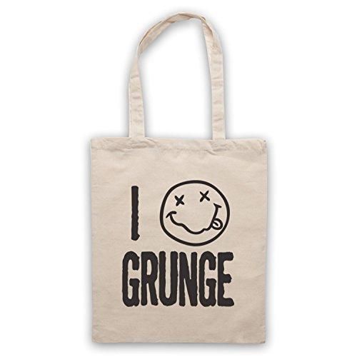 I Love Grunge Slogan Style Umhangetaschen Naturlich