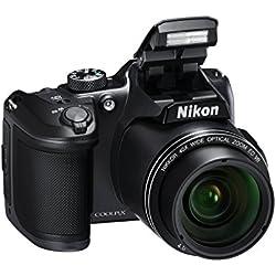 "Nikon Coolpix B500 Fotocamera Digitale Compatta, 16 Megapixel, Zoom 40x, VR, LCD Inclinabile 3"", Full HD, Bluetooth, Wi-Fi, Nero [Nital Card: 4 Anni di Garanzia]"