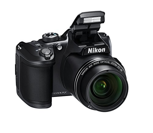 nikon coolpix b500 fotocamera digitale compatta, 16 megapixel, zoom 40x, vr, lcd inclinabile 3, full hd, bluetooth, wi-fi, nero [nital card: 4 anni di garanzia]