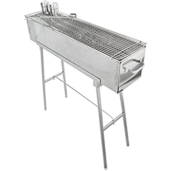 Party Griller Yakitori Grill 80 x 20 cm w/ Double Mesh BBQ