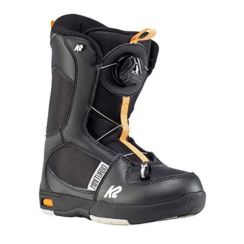 K2 Snowboarding Jungen Mini Turbo Black Snowboardschuhe, Schwarz - Orange, 35.5 EU