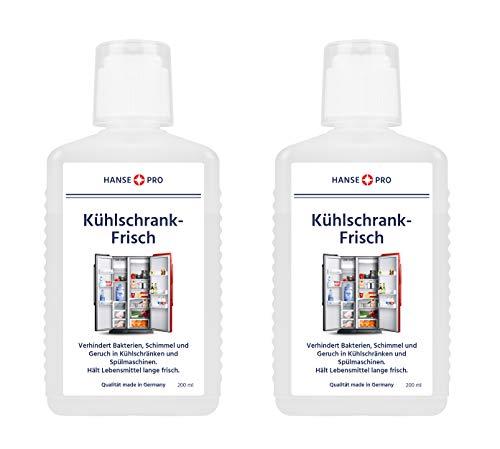 Hansepro Kühlschrank-Frisch I Kühlschrank-Frische I Frischer Geruch I Kühlschrank länger frisch halten I gegen Gerüche, Feuchtigkeit, Schimmel und Bakterien (2 x 200 ml) -