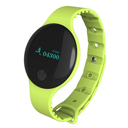 Smart Armband, Smart Watch Kinder Sport Touch Screen Bluetooth Pedometer Geschenk Silikon, Acht Farben,Green