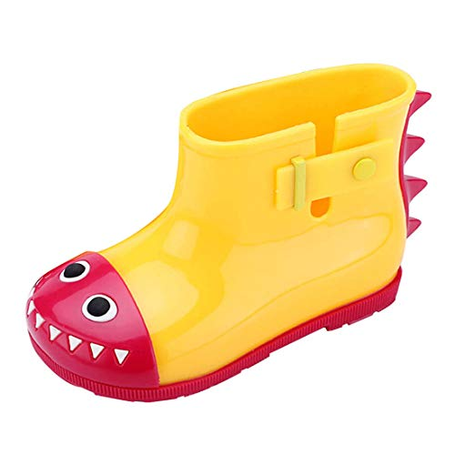 YIBLBOX Baby Infant Toddler Wellies Wellington Lovely Shark Rain Boots PVC Rain Shoes for 1-6 Years Old