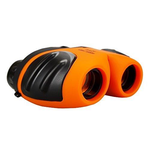 Susam 3-12 Year Old Boy Geschenke, kompakte Shock Proof Fernglas für Kinder 3-12 Jahre alte Mädchen Geschenke Spielzeug für 3-12 Jahre alte Jungen Spielzeug für 3-12 Jahre alte Mädchen Orange SSUKWJ05