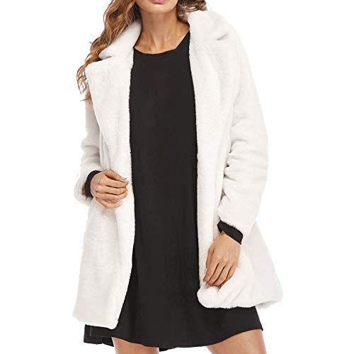 Tonsee  Manteau Femme, Nouvelle Mode Hiver Lady Chaud Long Faux Manteau en Fourrure Veste Parka Survêtement