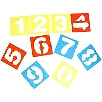 Sharplace 10 Pcs Regla de Plantilla Números Arábigos 0-9 Creativos para Manualidades de Niños para Dibujar DIY