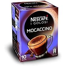 Nescafé Caffè Golosi Mocaccino Preparato Solubile in Polvere al Caffè e Cacao 10 Buste, 10 Tazze