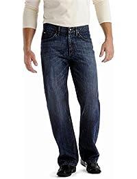 Hommes premium bleu stone wash conçu droite jeans coupe droite Pantalon décontracté Jeans pants