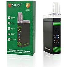 Atman Starlight Vaporizador Vaporizer Herbal Herb Vaporizador de Bolsillo portable, Poderoso vaporizador equipado con 2800Mah batería y 4 niveles de control de temperatura, rápidamente la calefacción en 15 segundos con bobina de cuarzo,no Nicotina-Negro