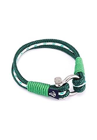Constantin Nautics Unisex-Armband Kunststoff/Edelstahl 18 cm, grün