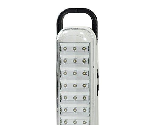 DP - Lámpara LED portátil con 63 LEDs, con asa para colgar y batería recargable de larga duración, alta luminosidad y bajo consumo.