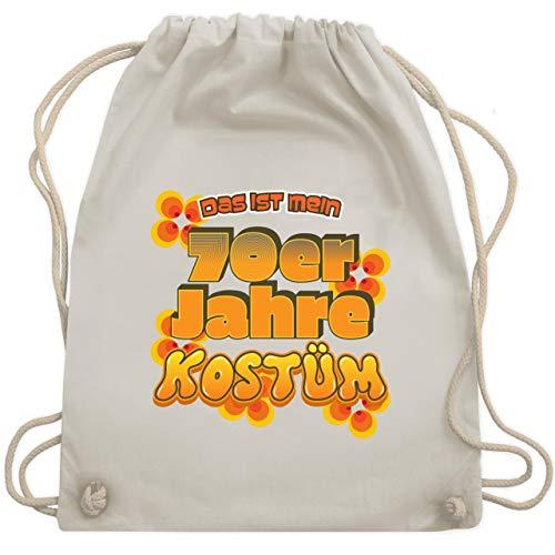 Karneval & Fasching - Das ist mein 70er Jahre Kostüm - Unisize - Naturweiß - WM110 - Turnbeutel & Gym Bag