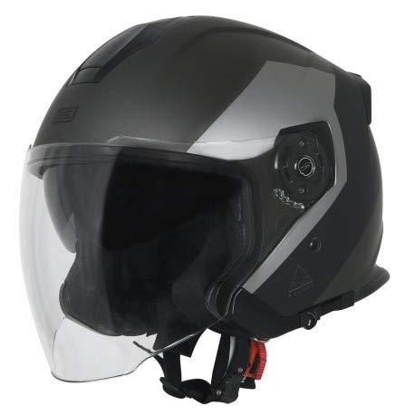 Origine Palio Eko 2.0 Mini S7 Bluetooth Jethelm Schwarz Matt/Titan M (57/58) Bluetooth Helm Kit