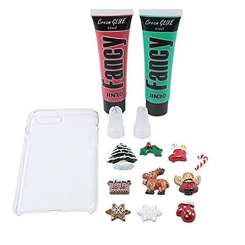 Lovely Candy Farben gemischt Kleine Dessert Food Little Süße Tier Muster für DIY Kunstharz Dekoration für iPhone 7? Christmas 2