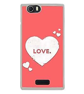 Love Hearts 2D Hard Polycarbonate Designer Back Case Cover for Micromax Canvas Nitro 2 E311