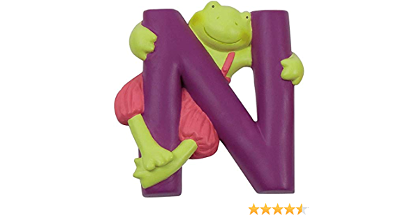 Moulin Roty Lettre Alphabet N Violet 7cm