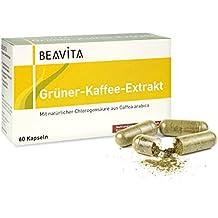 BEAVITA Grüner-Kaffee-Extrakt, 60 Kapseln mit je 400 mg Extrakt pro Kapsel bei 50% Chlorogen-Säure-Gehalt