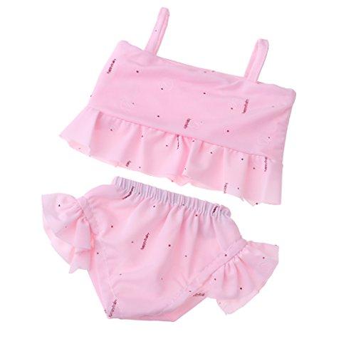 MagiDeal Schöne Puppe Sommer Strand Schwimmen Badeanzug Outfit für 18 Zoll American Girl Doll - Rosa - Kleidung Girl Puppe Strand American