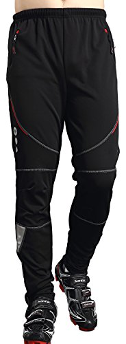 Women Thermal Windproof Athletic Pants DuShow Men Fleece Cycling Winter Pants No Padded