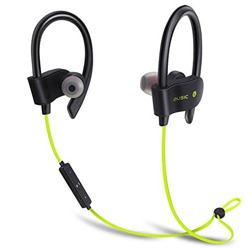 TechCode Bluetooth Kopfhörer in Ear für Samsung S9, Wireless Bluetooth Kopfhörer Wasserdicht Kopfhörer Sport Lauf Headset Stereo Bass Earbuds Freisprecheinrichtung mit Mikrofon für Gym Sports(Gelb)