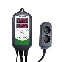 Conseils pour le Réglage:  TS est la température cible, HD est la valeur de différence de chauffage, CD est la valeur de différence de refroidissement, lorsque la température mesurée est supérieure à TS + CD, allumez le refroidisseur jusqu'à TS; quan...