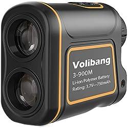 volibang Golf Telémetro, Medidor Laser de Golf 1000Yardas 7X Multifunción Laser Rangefinder de Velocidad Medidor de Distancia Recargable