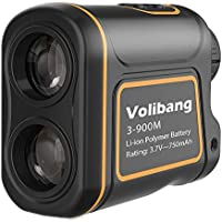 Golf Telémetro,Volibang Medidor Laser de Golf 3-1000Yardas 7X Multifunción Laser Rangefinder de Velocidad Medidor de Distancia Multifuncional Recargable para Medición de Distancia, Velocidad, Ángulo y Altitud