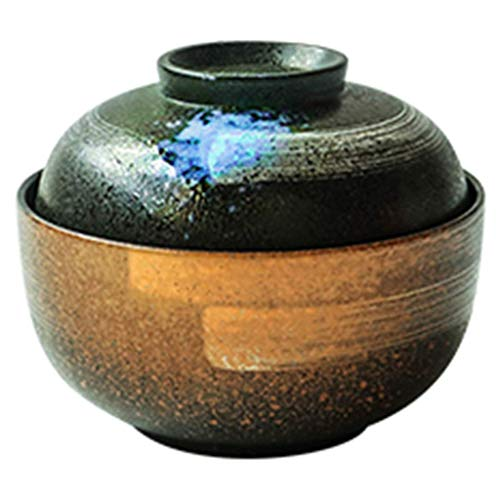 LAOZI China Geschirr & Serving Pieces Schüssel Keramik-Schüssel Mit Deckel-Instant-Knutschüssel Japanische Küche Suppenschale Ramen-Schüssel 16,8 * 8,8Cm/15,5 * 5,8Cm Mit Deckel (Zwei Schüsseln) China Schüssel