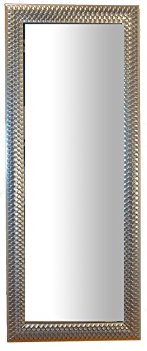 Miroir Miroir Cadre Bois Argent Argent cm. 60 x 150 Made en Italy entrée  Salon 856441036a80