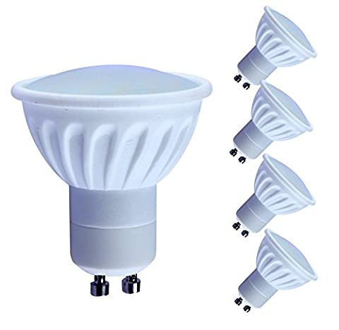 Lampaous 4x 5W GU10 LED bulb Day White day light LED GU10 Spot lights 450lm natural white pure white LED light bulb 50W halogen