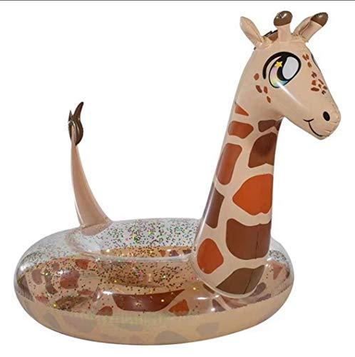 epferdchen Pool Float Gaint niedliche Giraffe Tier Schwimmbad Ring Wasser Fahrt auf Float Seat Strand Spielzeug für Kinder und Erwachsene ()