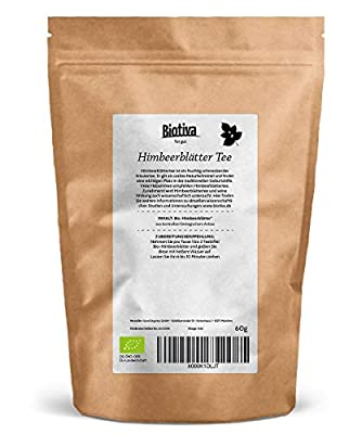 Himbeerblätter-Tee (60g, Bio) | Geburtsvorbereitung | sehr große Blätter | Bio-Zertifiziert - von Hebammen empfohlen von Good Organics bei Gewürze Shop