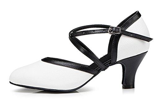TDA ,  Damen Durchgängies Plateau Sandalen mit Keilabsatz 6cm Heel White