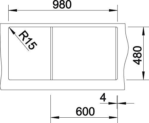 Blanco ClassicLexa 6 S /Évier en Silgranit PuraDur 514660