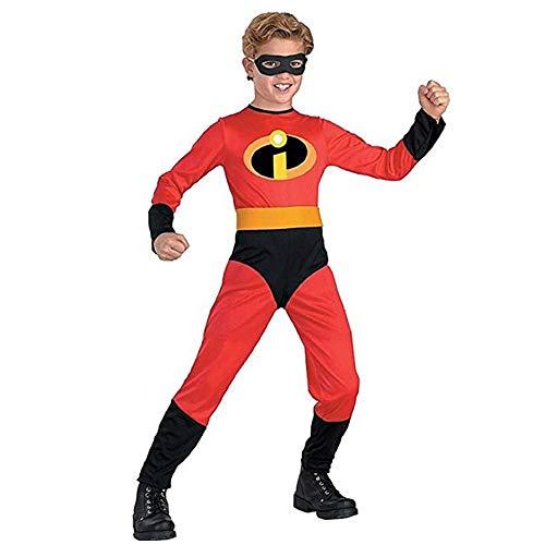 The Incredibles Kostüm Kind Erwachsener Cosplay Onesies Superhelden Halloween Mottoparty 3D Druck Strumpfhosen,Boy-L