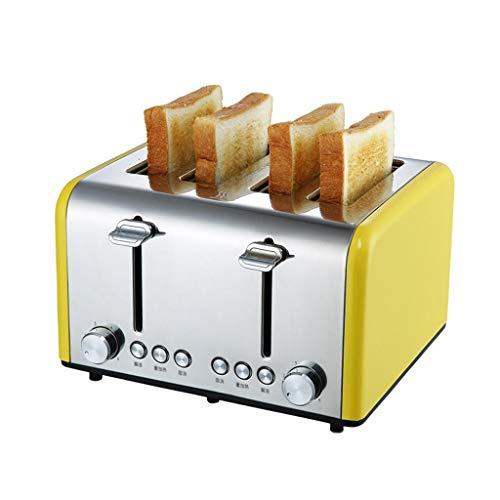 Moolo Toaster 4 Slice, Brot-Toaster Hat Abbrechen/Auftauen Und Reheat-Funktion, Krümelschublade...