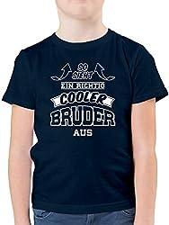 Geschwister Bruder - So Sieht EIN richtig Cooler Bruder aus - 152 (12/13 Jahre) - Dunkelblau - F130K - Kinder Tshirts und T-Shirt für Jungen